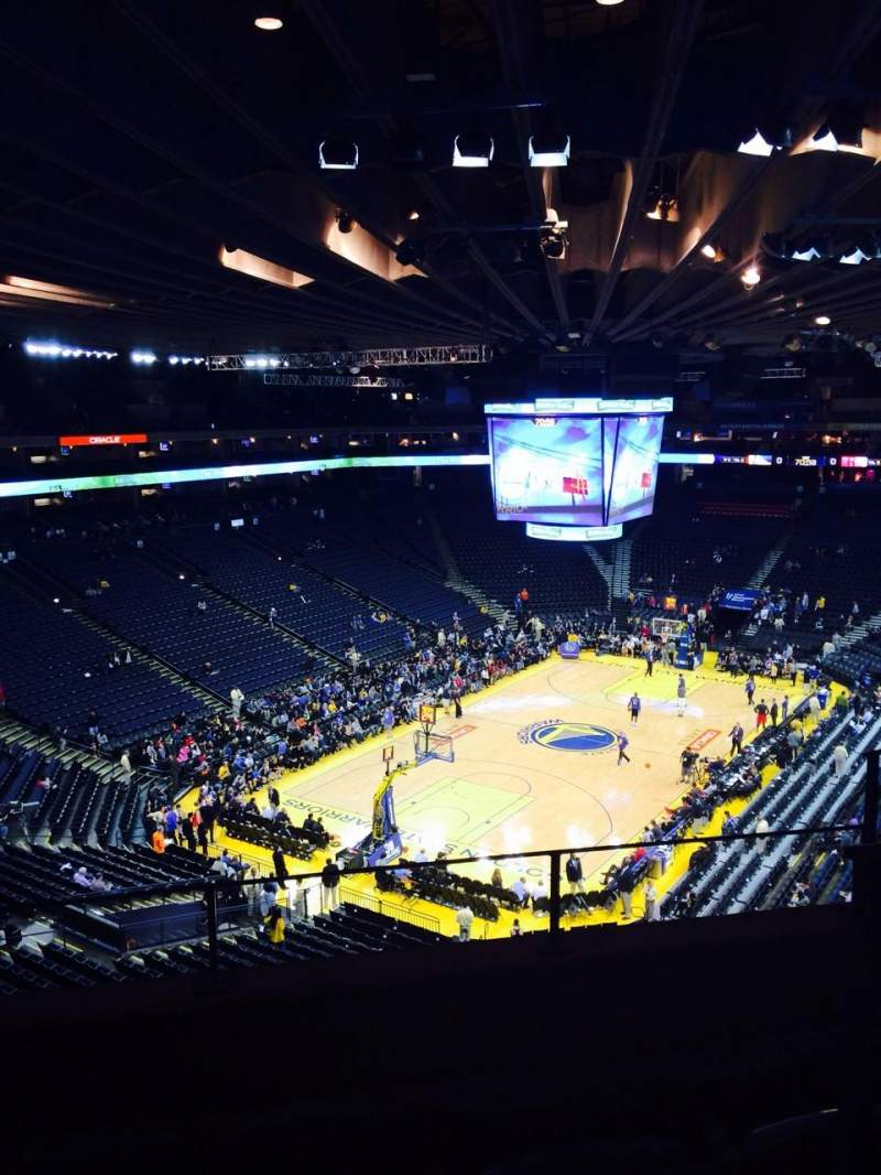 Seating view for Oracle Arena Section 206 Row 2 Seat 3