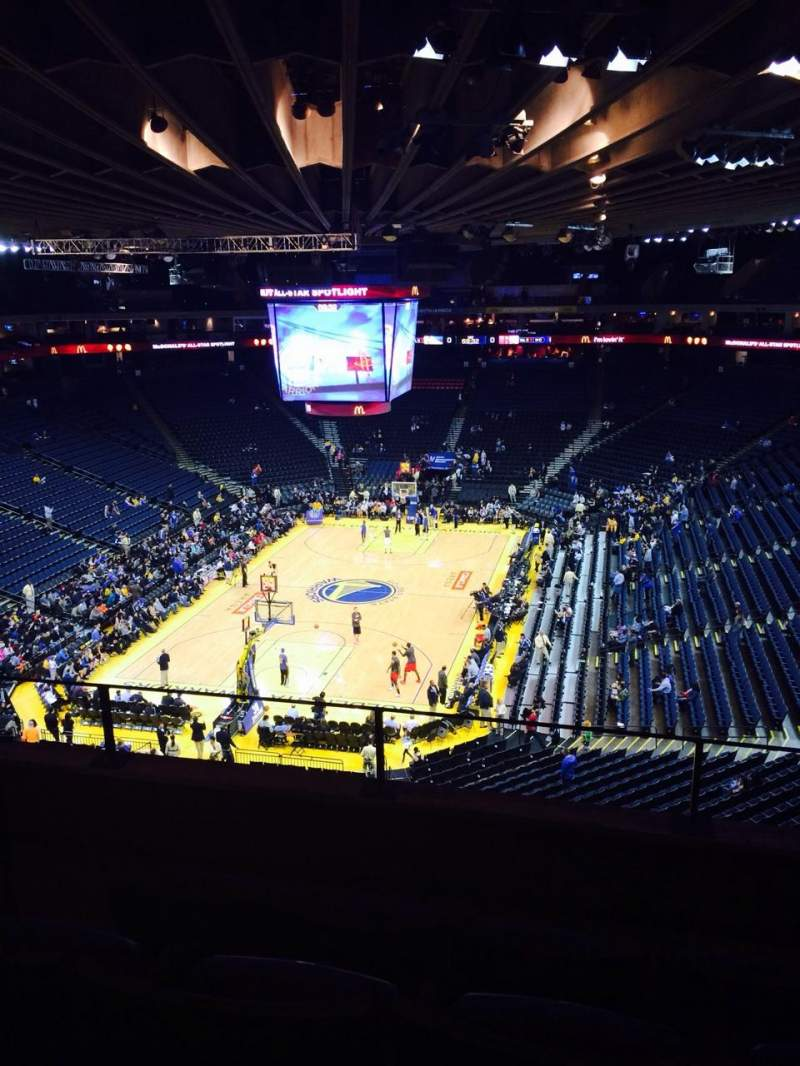 Seating view for Oracle Arena Section 207 Row 4 Seat 4