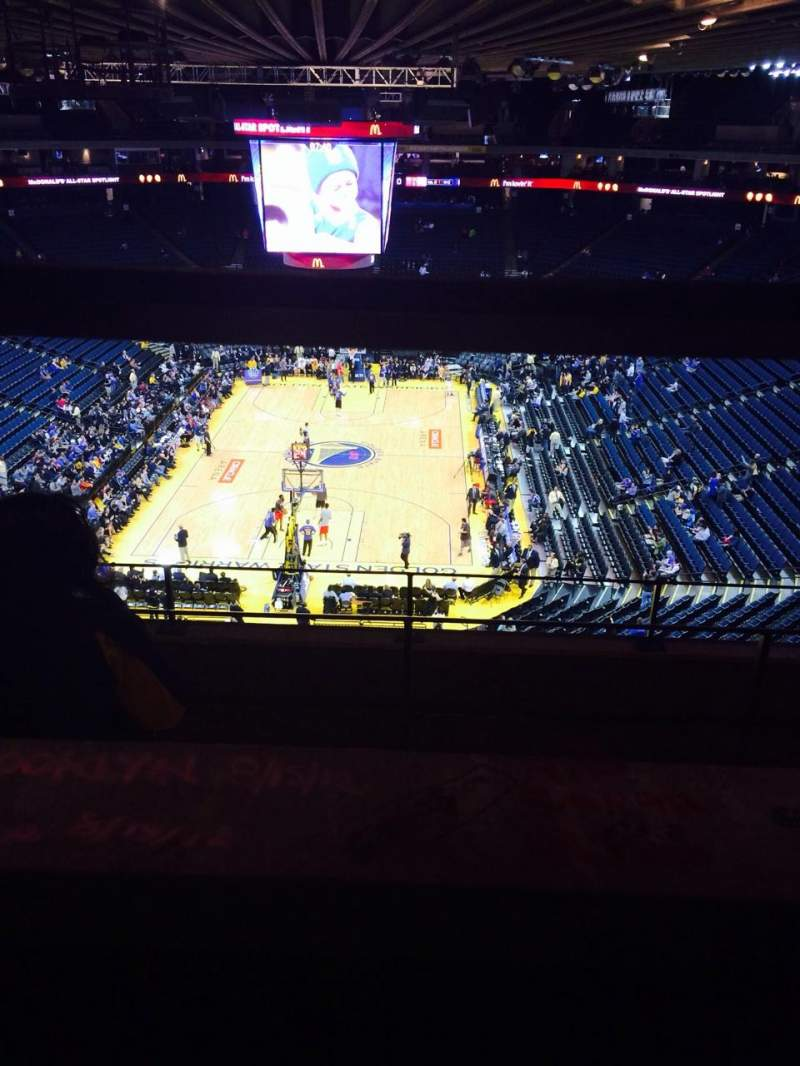 Seating view for Oracle Arena Section 208 Row 5 Seat 5