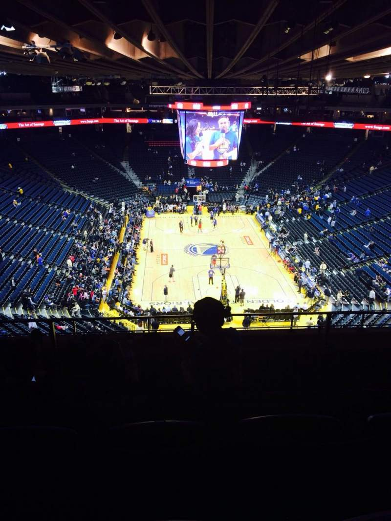 Seating view for Oracle Arena Section 209 Row 8 Seat 9