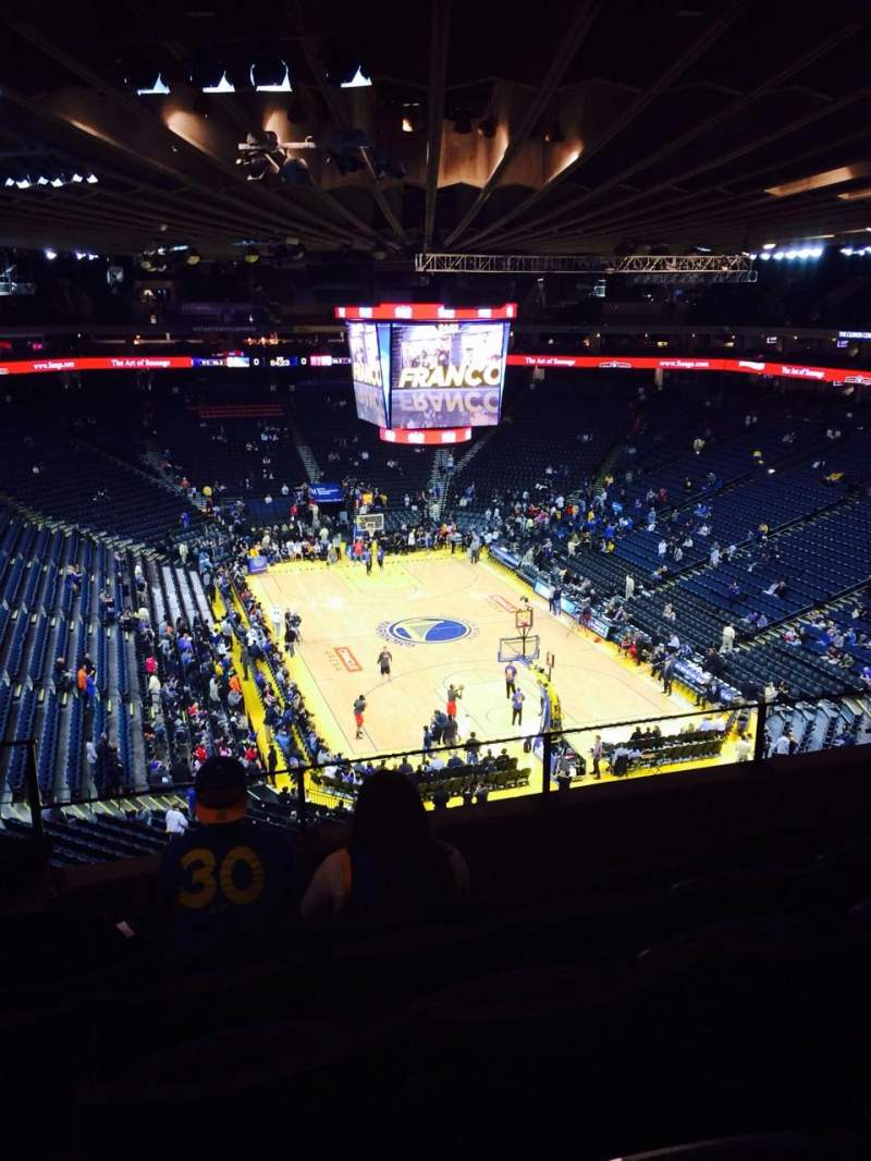 Seating view for Oracle Arena Section 210 Row 5 Seat 4