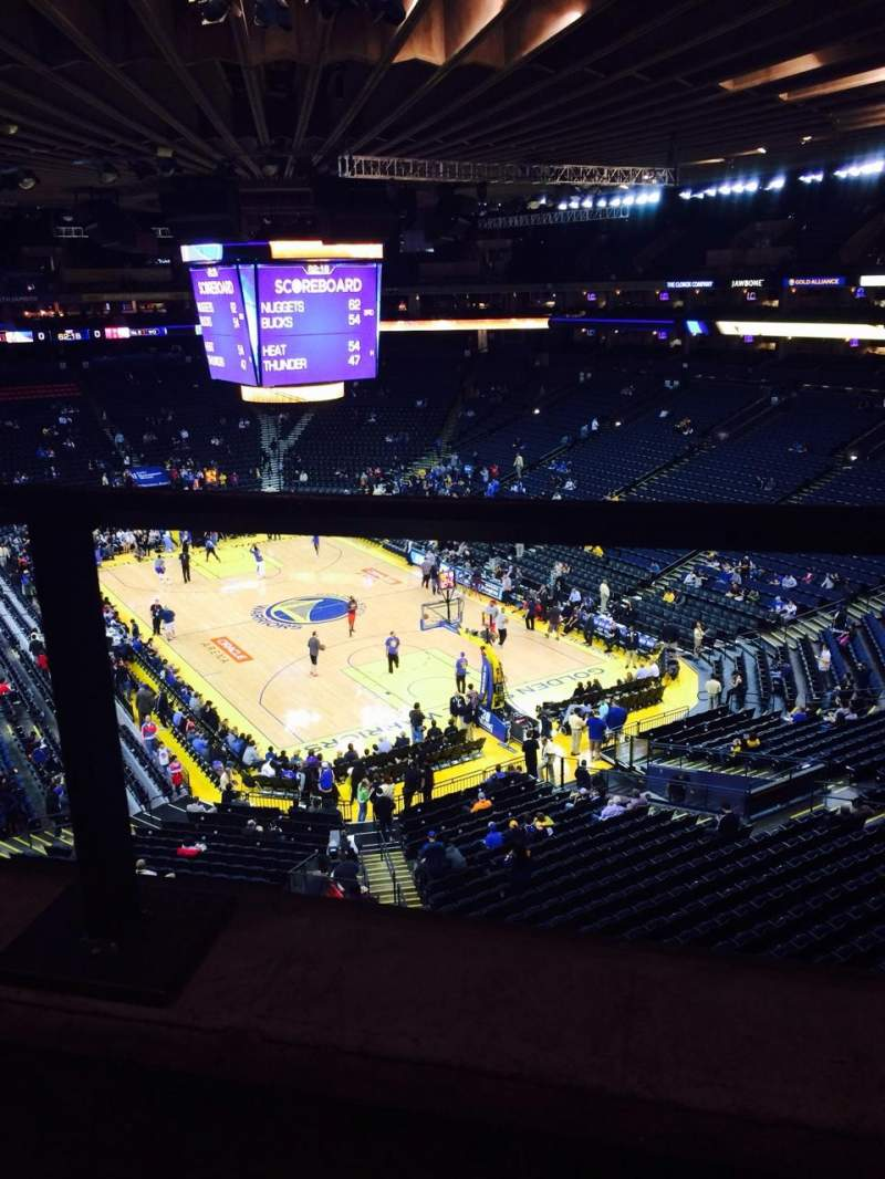 Seating view for Oracle Arena Section 211 Row 1 Seat 5