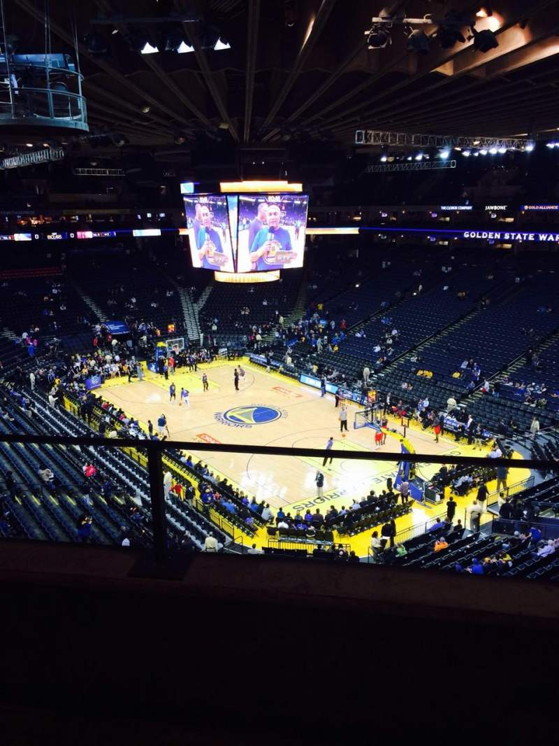 Seating view for Oracle Arena Section 212 Row 2 Seat 6