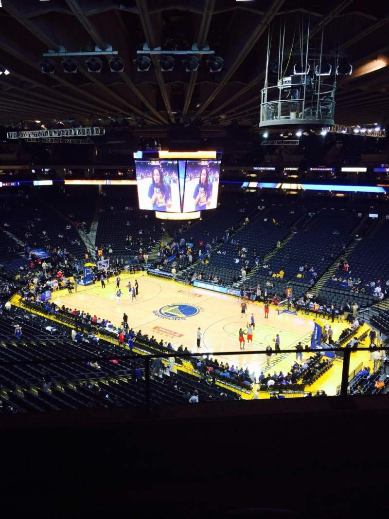 Seating view for Oracle Arena Section 213 Row 3 Seat 3