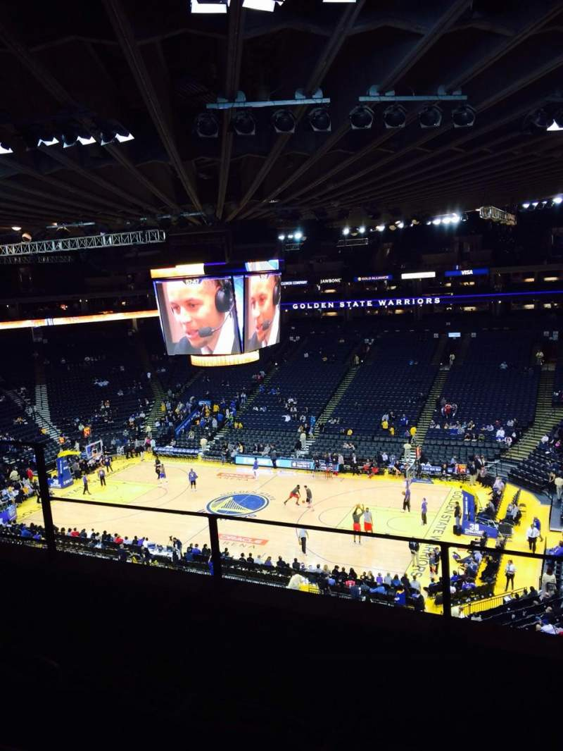 Seating view for Oracle Arena Section 214 Row 3 Seat 6