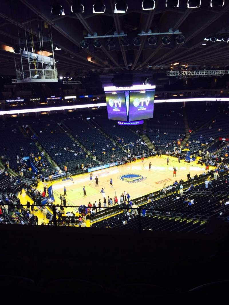 Seating view for Oracle Arena Section 220 Row 4 Seat 3