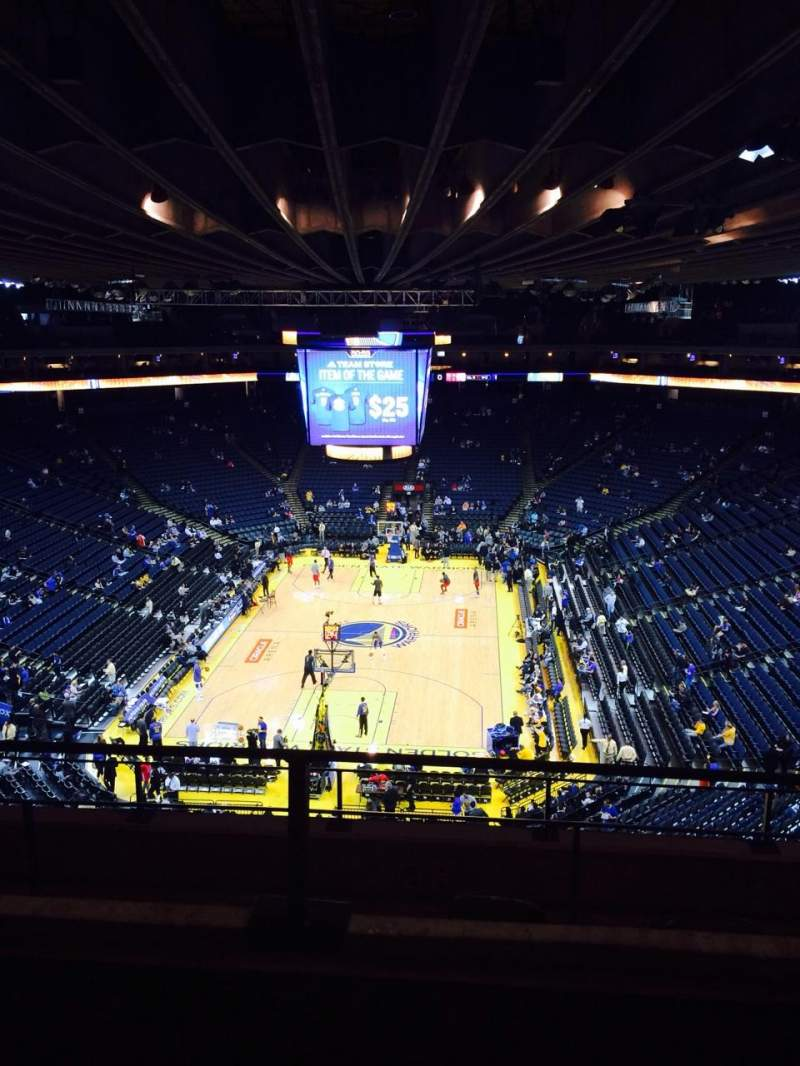 Seating view for Oracle Arena Section 224 Row 2 Seat 4
