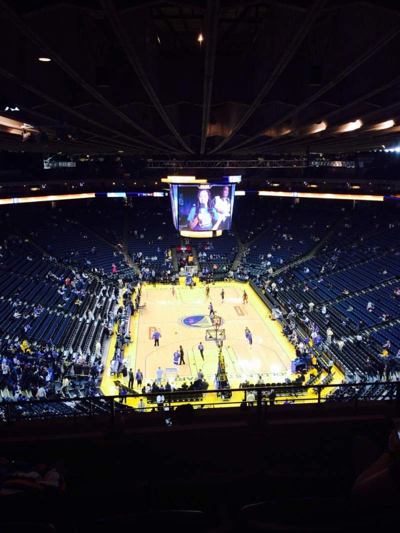 Seating view for Oracle Arena Section 225 Row 8 Seat 6