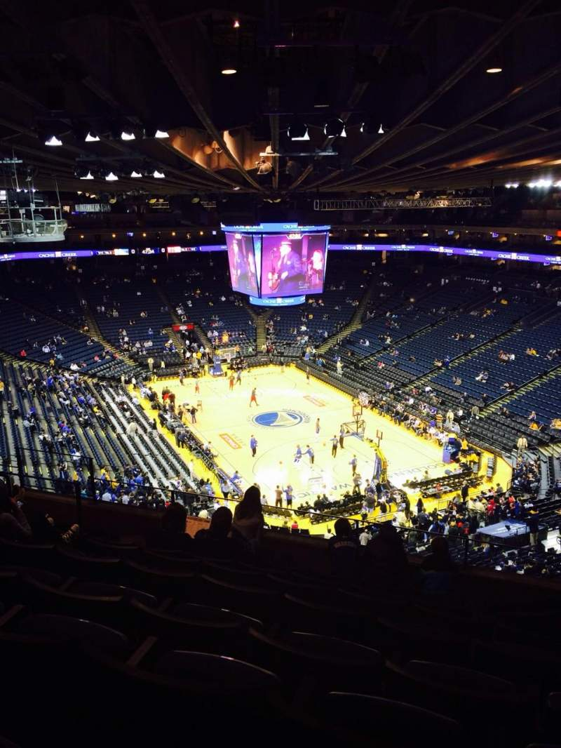 Seating view for Oracle Arena Section 227 Row 8 Seat 6
