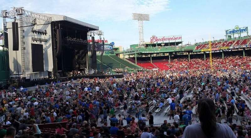 Seating view for Fenway Park Section Loge Box 161 Row MM Seat 5
