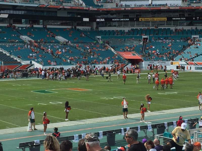 Seating view for Hard Rock Stadium Section 122 Row 18 Seat 6