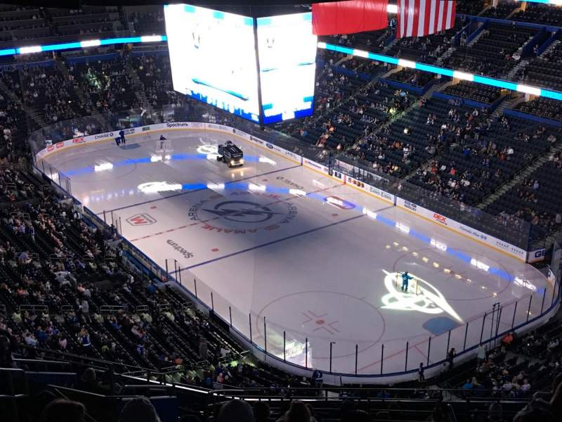 amalie arena section 326 row s seat 24 tampa bay