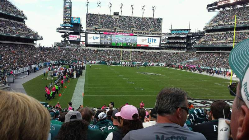 Seating view for Lincoln Financial Field Section 109 Row 28 Seat 14