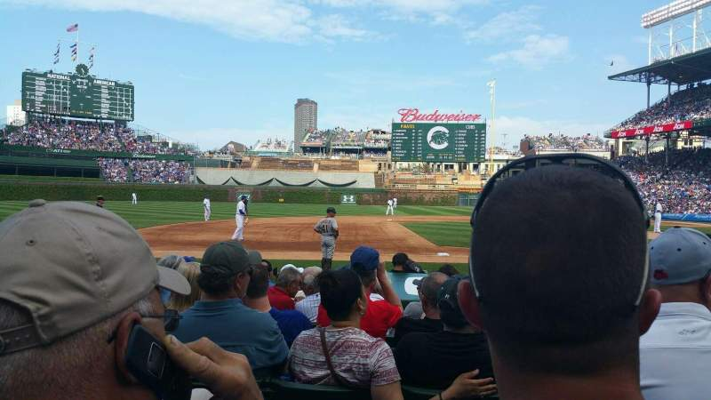 Seating view for Wrigley Field Section 12 Row 8 Seat 103