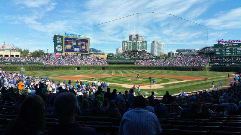 Seating view for Wrigley Field Section 120 Row 14 Seat 10