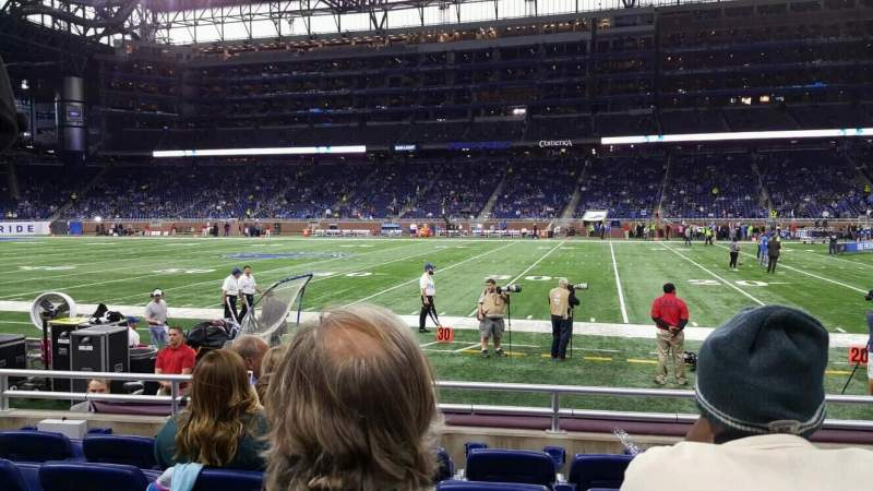 Seating view for Ford Field Section 129 Row 5 Seat 11