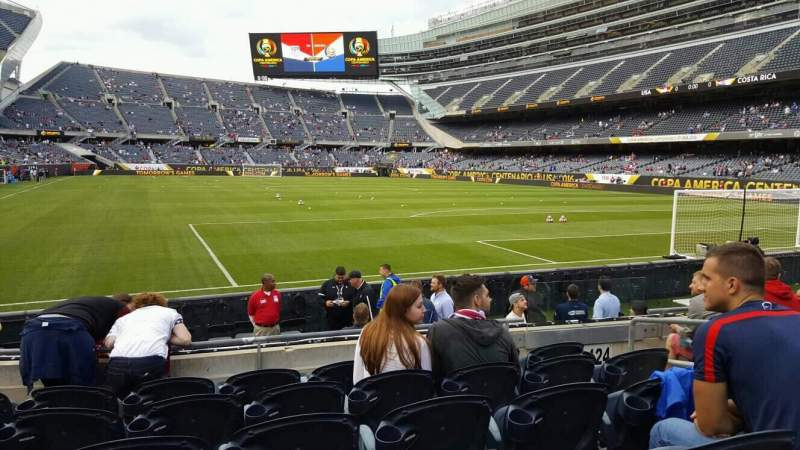 Seating view for Soldier Field Section 125 Row 6