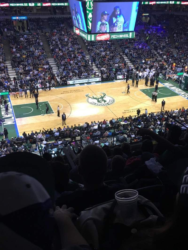Seating view for BMO Harris Bradley Center Section 424 Row M Seat 6