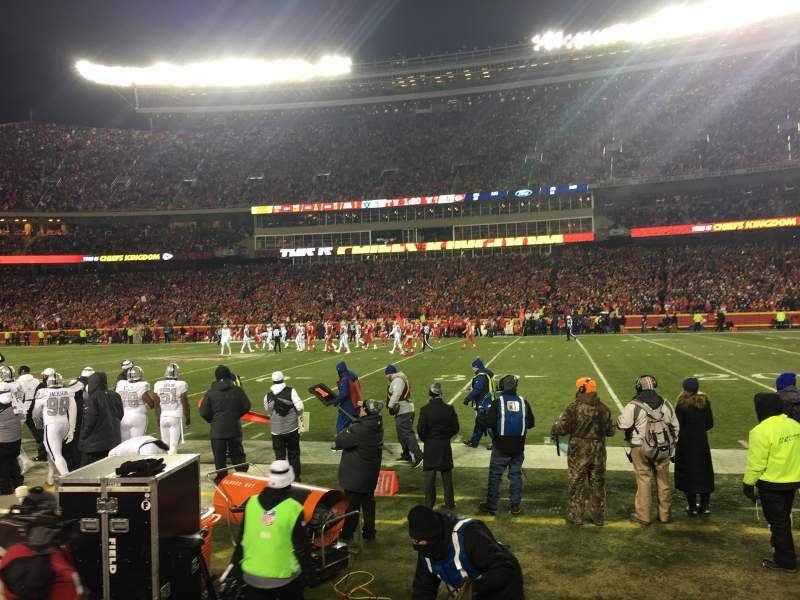 Seating view for Arrowhead Stadium Section 135 Row 2 Seat 22