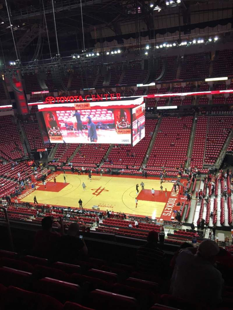 Toyota Center, section: 424, row: 5, seat: 13