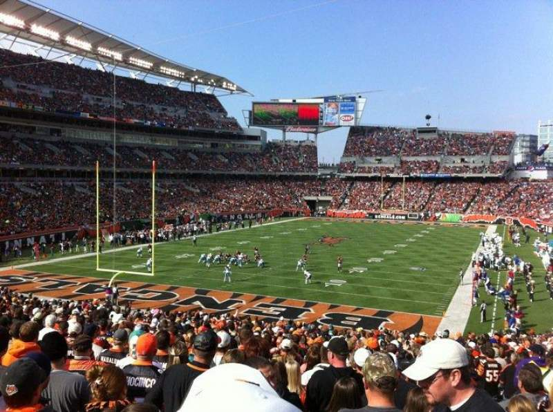 Seating view for Paul Brown Stadium Section 151 Row 34 Seat 6