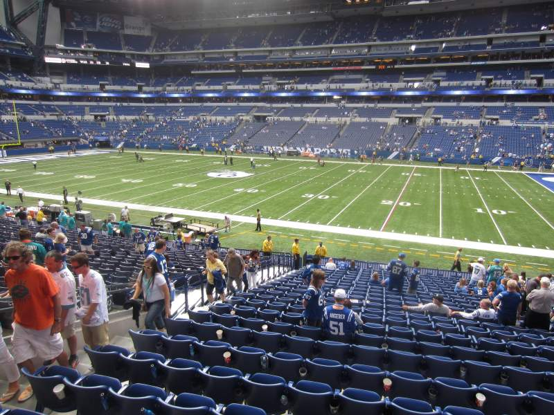 Seating view for Lucas Oil Stadium Section 210 Row 11 Seat 24