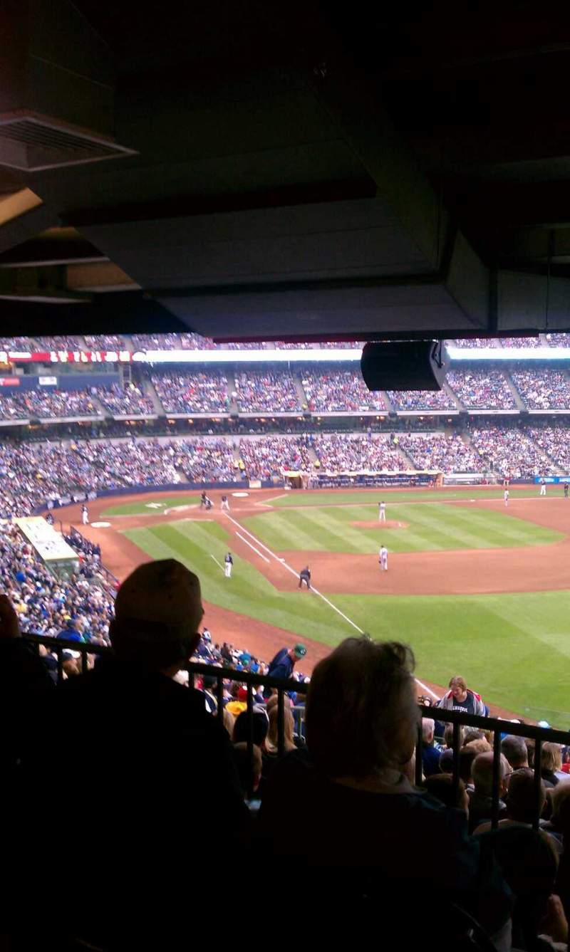 Seating View For Miller Park Section Standing Room Only Seat Table