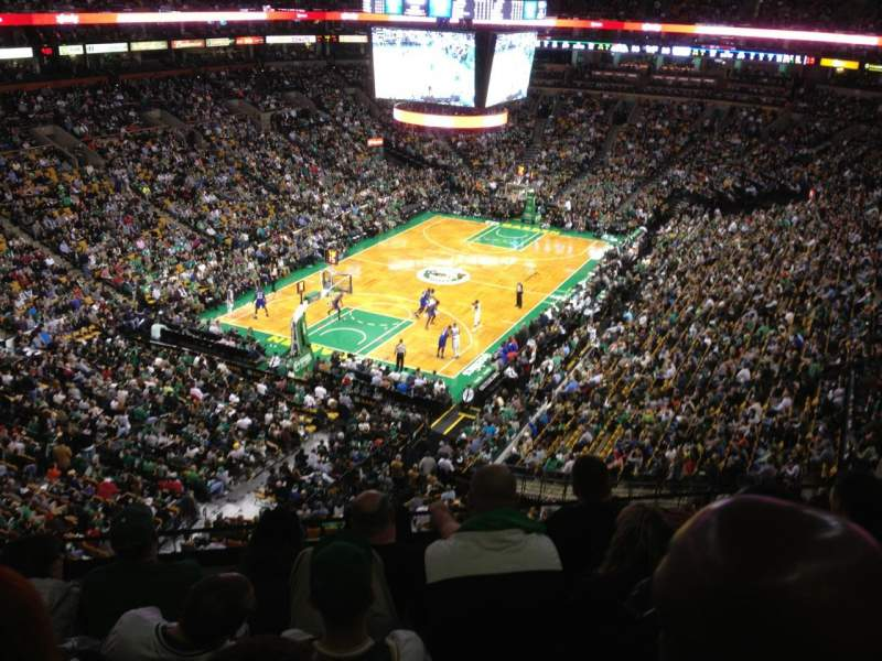 Seating view for TD Garden Section Bal 306 Row 5 Seat 10