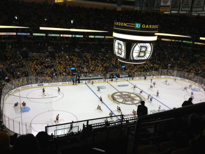 Seating view for TD Garden Section Bal 319 Row 11 Seat 1