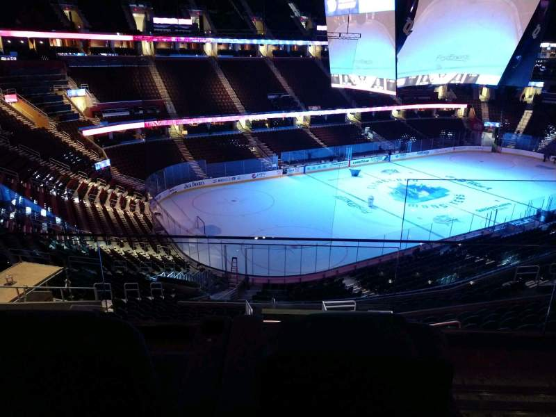 Seating view for Rocket Mortgage FieldHouse Section TB 01B Row 2 Seat 1