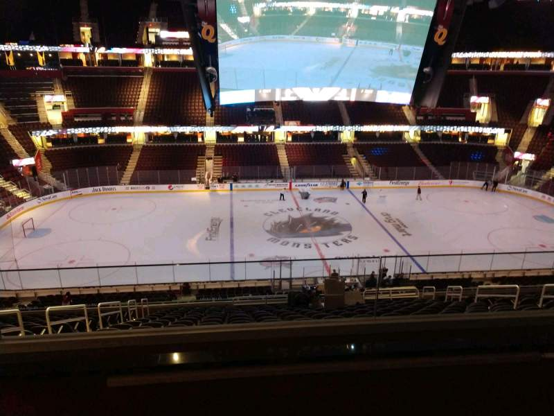 Seating view for Rocket Mortgage FieldHouse Section D404 Row 2 Seat 4