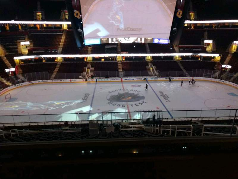 Seating view for Rocket Mortgage FieldHouse Section D402 Row 2 Seat 4