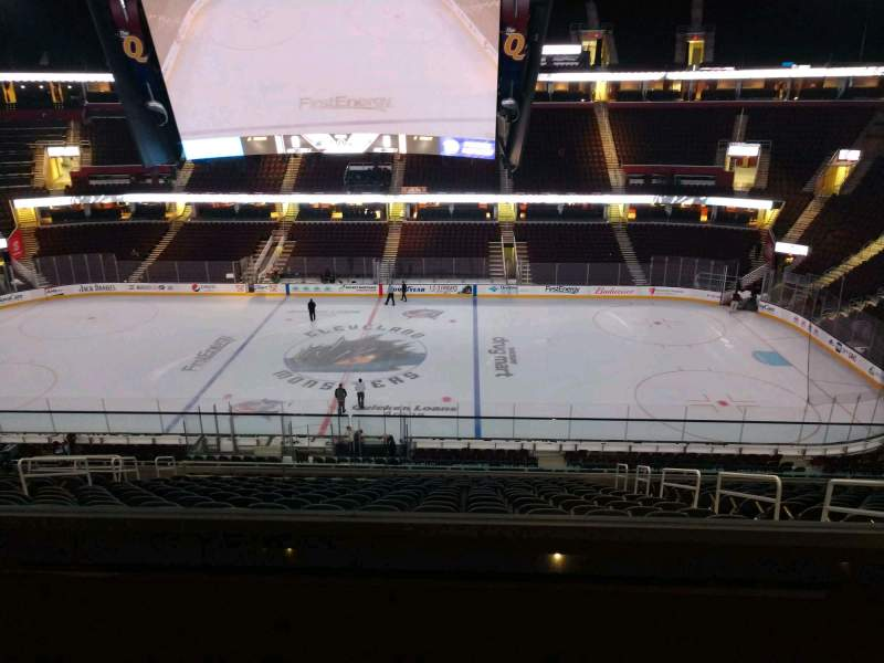 Seating view for Rocket Mortgage FieldHouse Section D432 Row 2 Seat 3