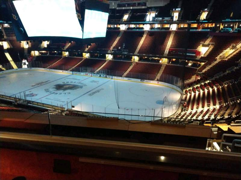 Seating view for Rocket Mortgage FieldHouse Section Suite C01 Row 2 Seat 3