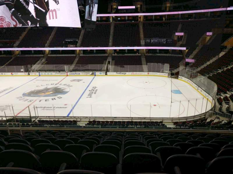 Seating view for Rocket Mortgage FieldHouse Section C119 Row 11 Seat 8