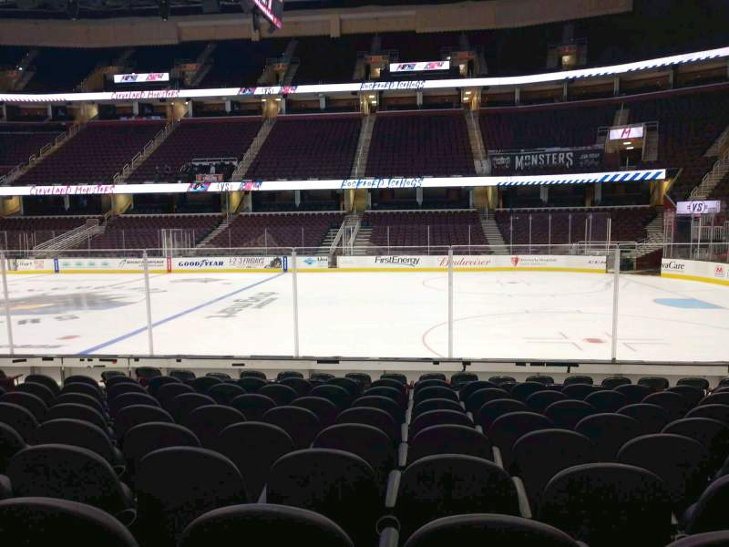 Seating view for Rocket Mortgage FieldHouse Section 119 Row 11 Seat 8