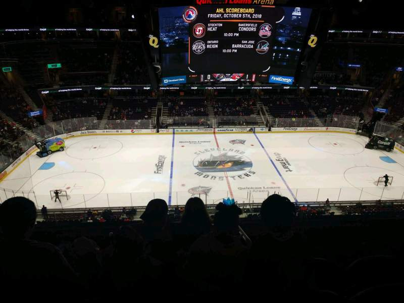 Seating view for Rocket Mortgage FieldHouse Section 224 Row 5 Seat 8