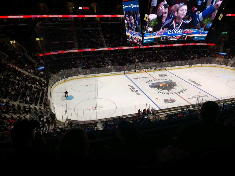 Seating view for Rocket Mortgage FieldHouse Section 212 Row 3 Seat 5