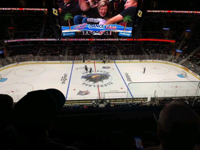 Seating view for Rocket Mortgage FieldHouse Section 210 Row 3 Seat 10