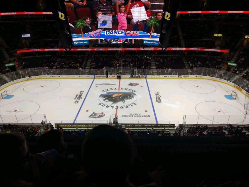 Seating view for Rocket Mortgage FieldHouse Section 209 Row 3 Seat 13