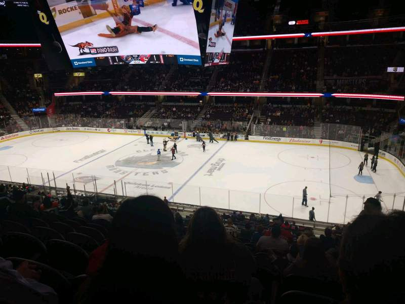 Seating view for Rocket Mortgage FieldHouse Section C119 Row 13 Seat 2