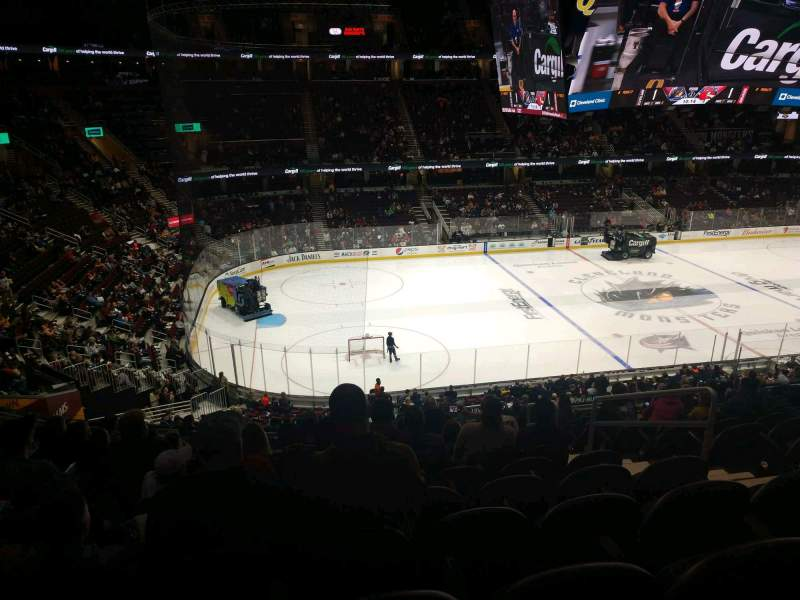Seating view for Rocket Mortgage FieldHouse Section M123 Row 13 Seat 5