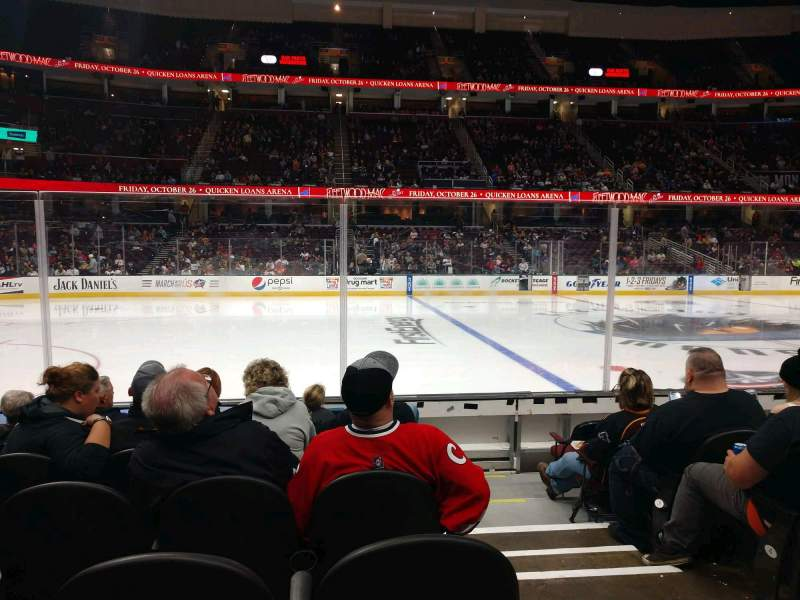 Seating view for Rocket Mortgage FieldHouse Section 122 Row 7 Seat 1