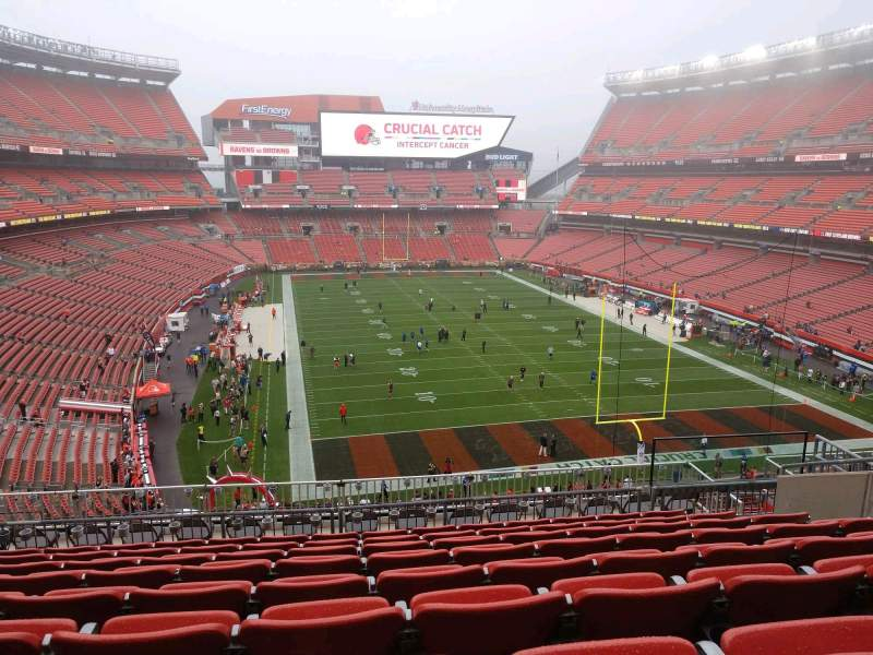Seating view for FirstEnergy Stadium Section 345 Row 15 Seat 13