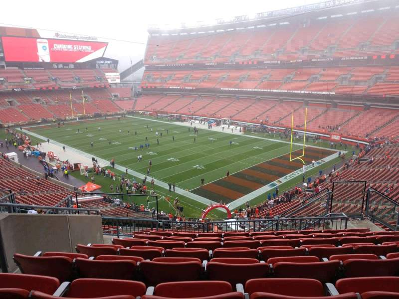 Seating view for FirstEnergy Stadium Section 341 Row 15 Seat 9