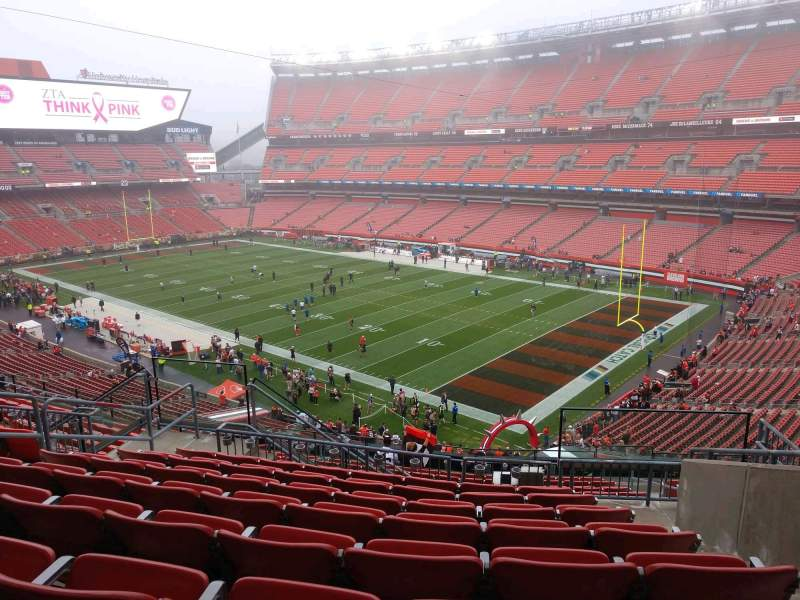 Seating view for FirstEnergy Stadium Section 340 Row 15 Seat 9