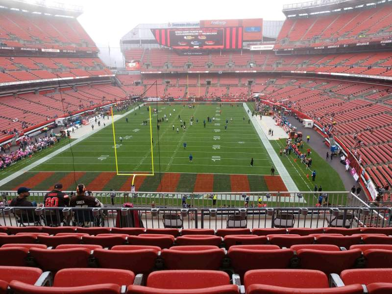 Seating view for FirstEnergy Stadium Section 321 Row 12 Seat 13
