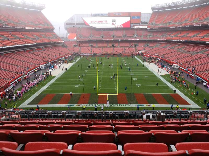 Seating view for FirstEnergy Stadium Section 320 Row 12 Seat 13