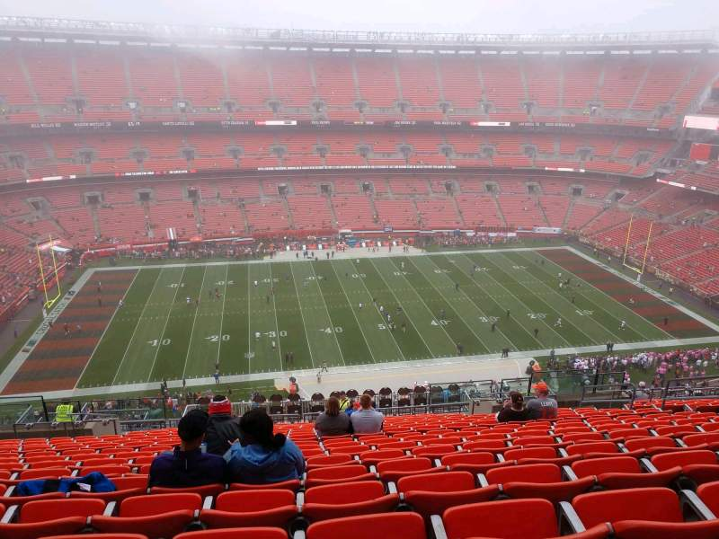 Seating view for FirstEnergy Stadium Section 507 Row 22 Seat 14
