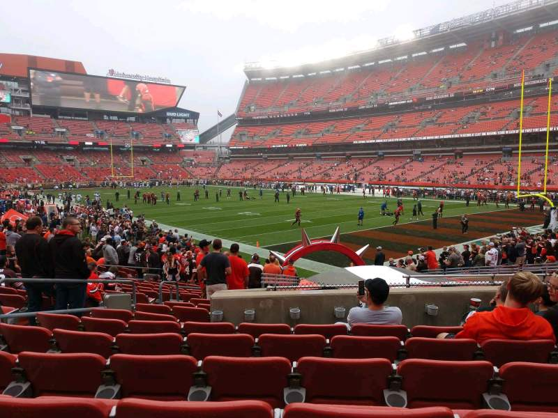 Seating view for FirstEnergy Stadium Section 141 Row 17 Seat 8